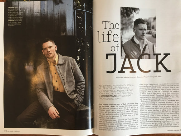 UK Sunday Times Style Magazine 24 September 2017 Jack O'Connell Photo Interview