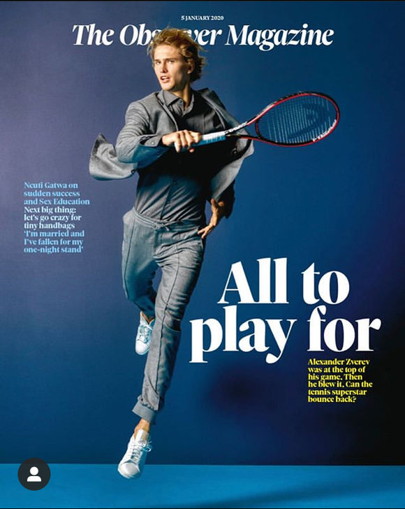 OBSERVER magazine 5th January 2020 Alexander Zverev cover and interview