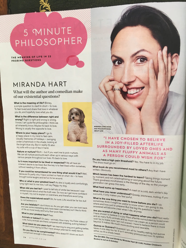 UK Stylist Magazine September 2017 - Haim Cover Interview - Miranda Hart