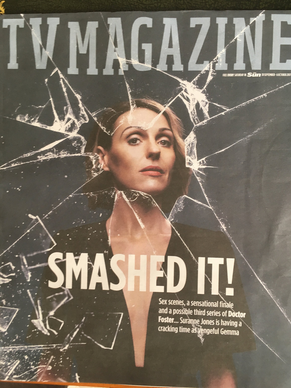 Suranne Jones on the cover in Doctor Foster Magazine