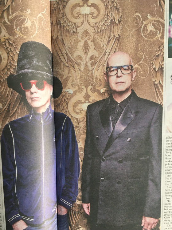 UK TIMES REVIEW magazine Jan 2020: PET SHOP BOYS Neil Tennant CHRIS LOWE