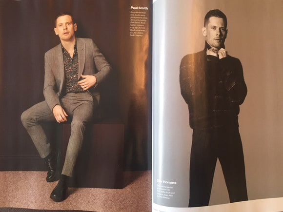 NEW UK !! JACK O'CONNELL inter/w ALEXANDER MCQUEEN HUNK UK ESQUIRE ISSUE ***