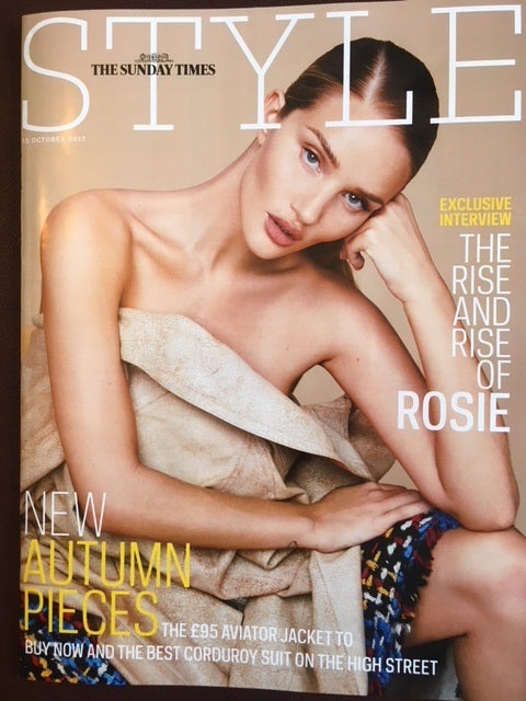 ROSIE HUNTINGTON-WHITELEY on the cover of Style Magazine