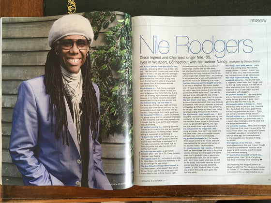 S Express Magazine 15 October 2017 Nile Rodgers Debbie Gibson Tom Fletcher Crystal Yu Harriet Walter