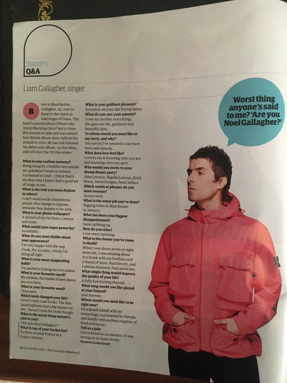 UK Guardian Weekend Magazine 14th October 2017 Tom Hanks Liam Gallagher John Lennon