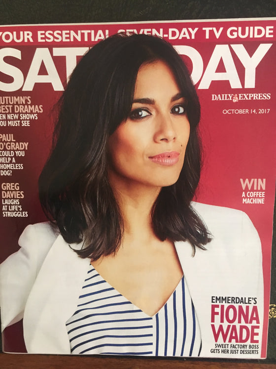 Fiona Wade on the cover of Saturday Magazine