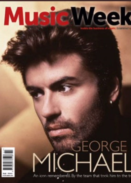 George Michael on the cover of Music Week Magazine