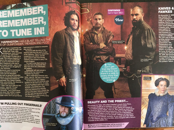 Love TV Magazine - October 21 2017 Kit Harington Tom Cullen Gunpowder UK Cover Interview