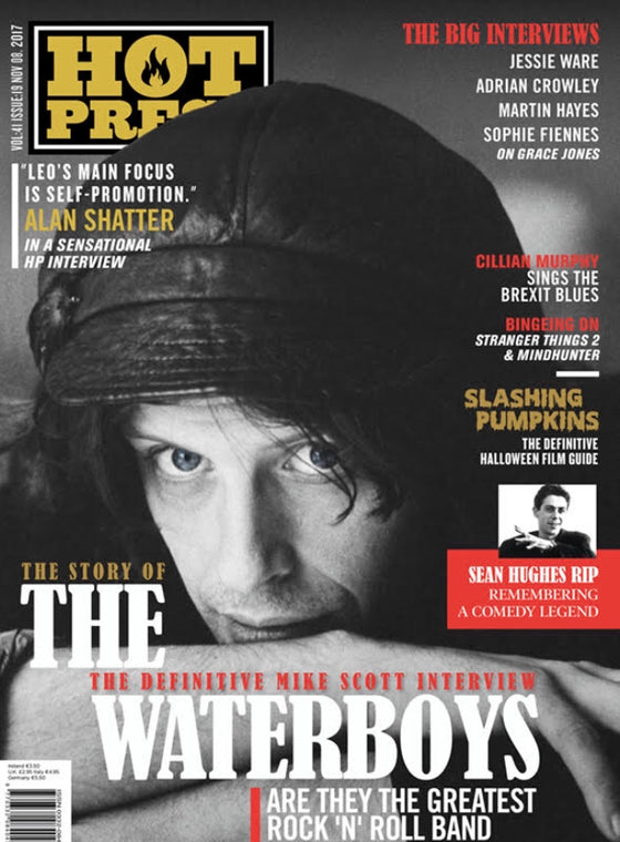 Mike Scott of the Waterboys Cover of Hot Press Magazine