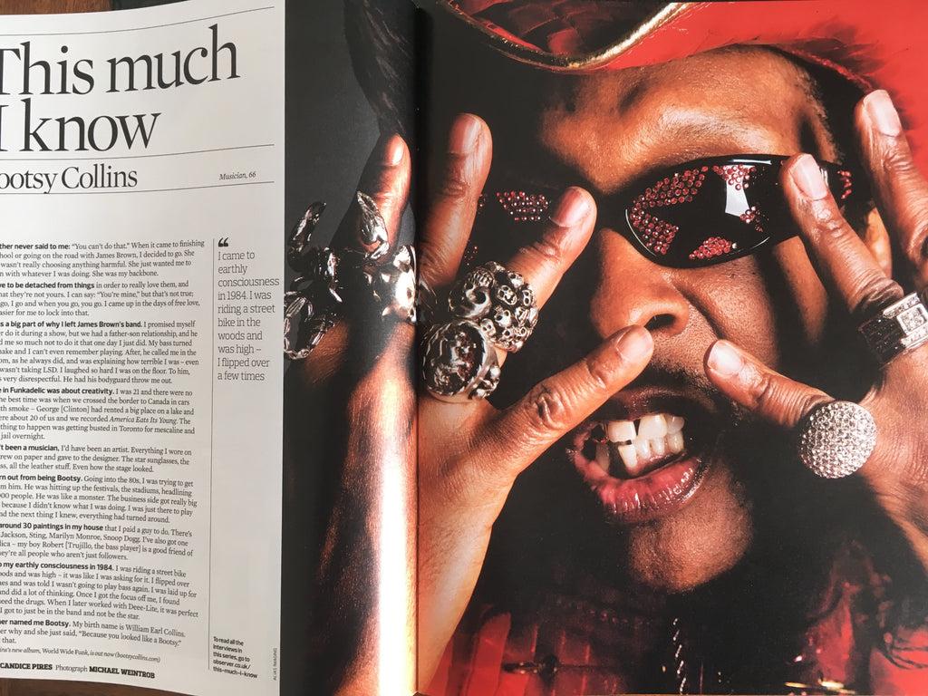 UK Observer Magazine 29 October 2017 Michael Hutchence INXS Bootsy Collins