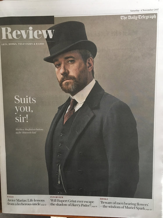 Matthew MacFadyen on the cover of UK Telegraph Review