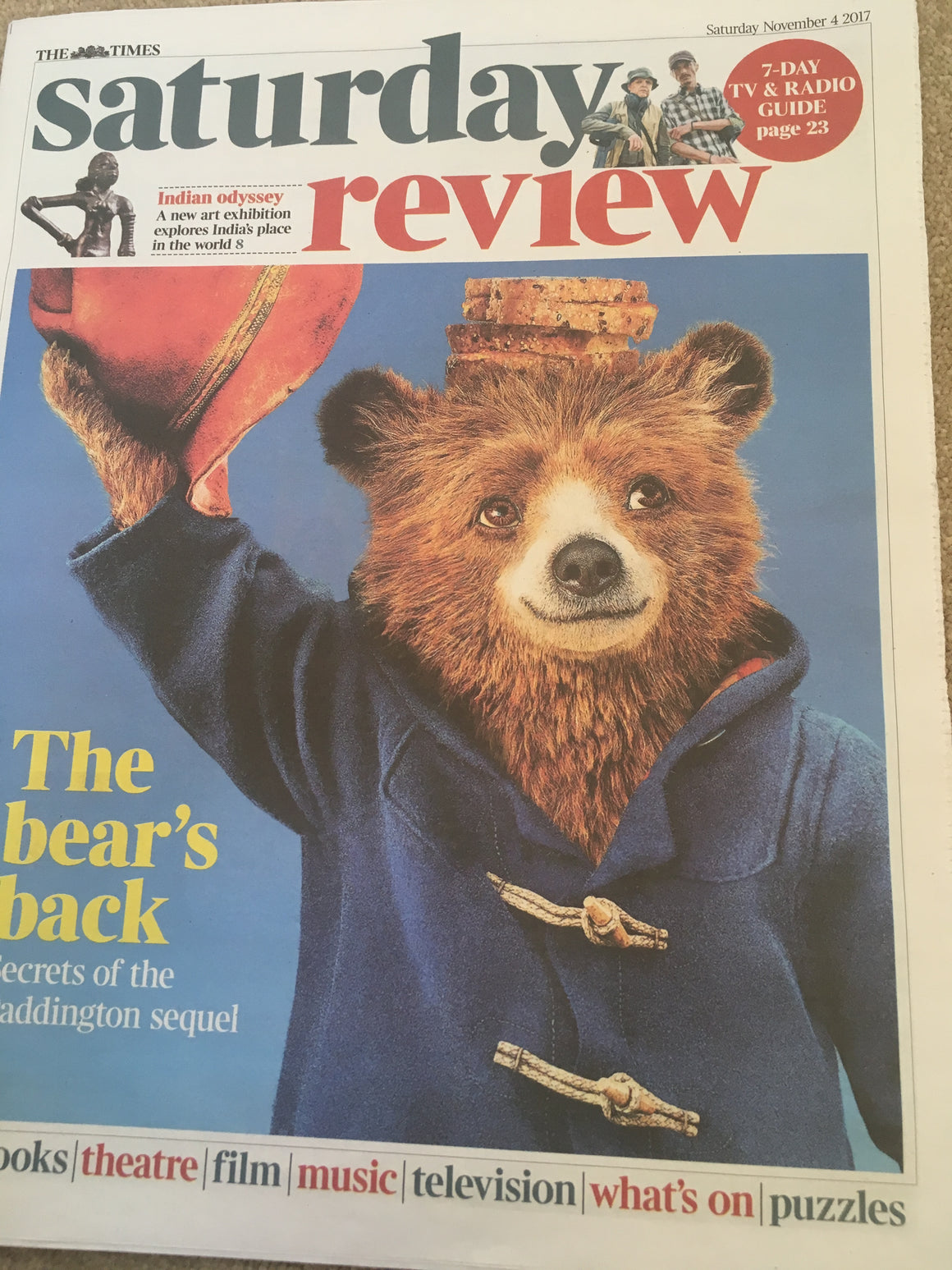 UK Times Review November 2017 Paddington 2 Ben Whishaw - Secrets of the Sequel