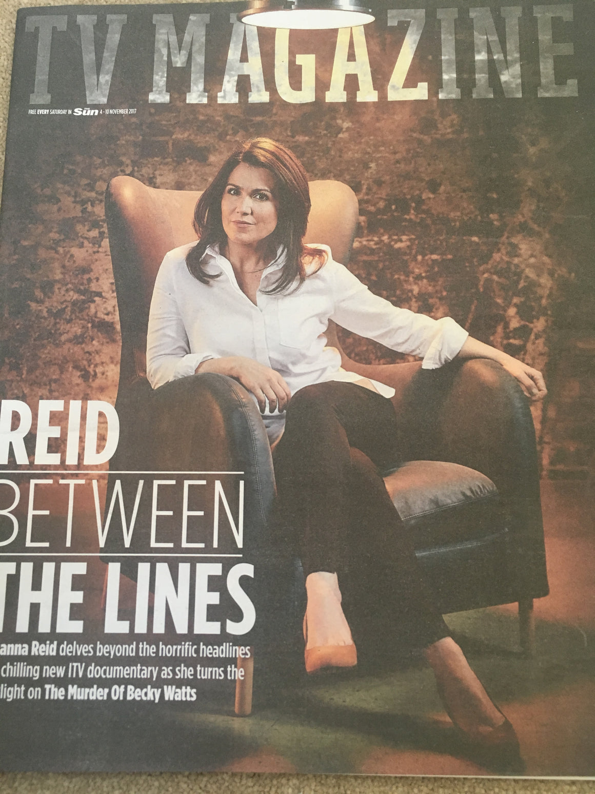 UK Sun TV Magazine November 4 2017 Susanna Reid Carol Vorderman Luke Treadaway
