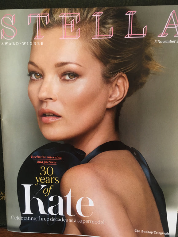 UK Stella Magazine 5th November 2017 Kate Moss - 30 Years Exclusive Interview