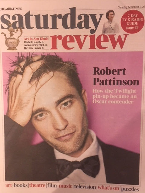 UK Times Review 11th November 2017 Robert Pattinson Cover UK Exclusive Interview