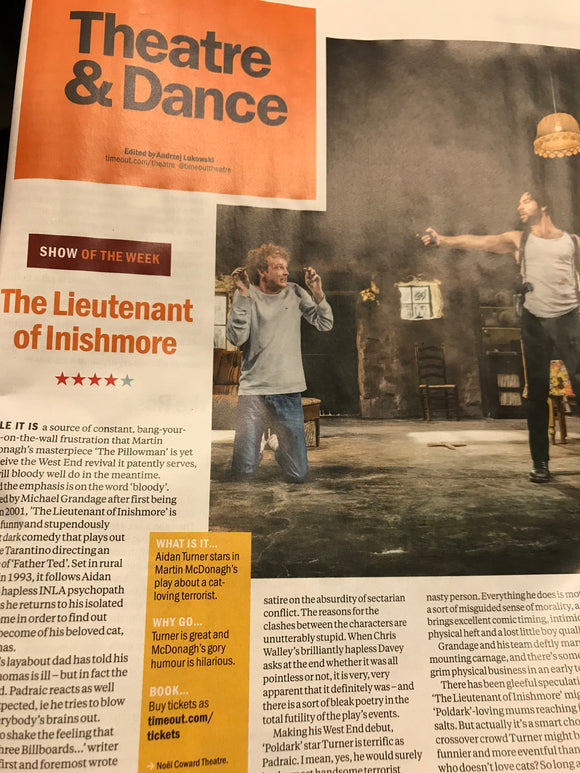 Time Out London July 2018: Aidan Turner Lieutenant Of Inishmore