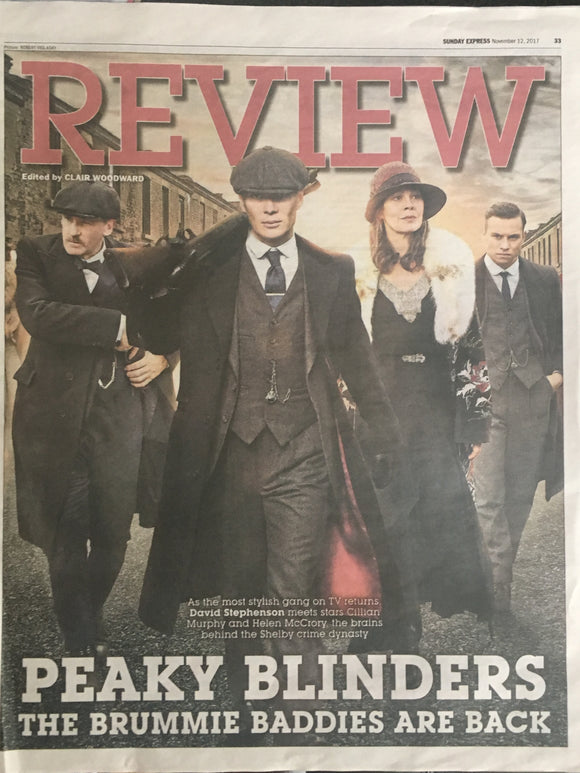 Sunday Express Review November 2017 Cillian Murphy Helen McCrory Peaky Blinders