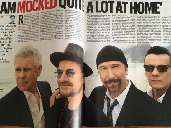 Hot Press Annual 2018 U2 Bono - Four Years in the Life Of A
