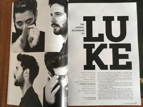 UK STYLE magazine 19 November 2017 - Malgosia Bela Luke Treadaway