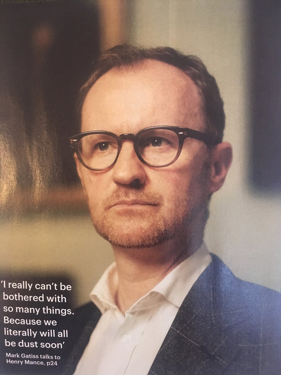 FT Weekend Magazine November 2017 SHERLOCK Mark Gatiss Photo Interview