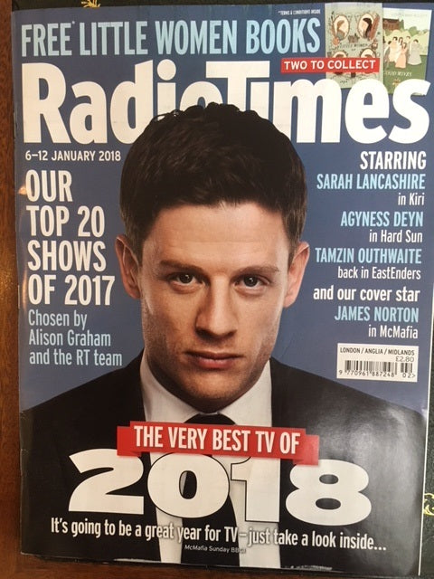 Radio Times Magazine 1/2018 JAMES NORTON Sarah Lancashire TOM JONES Jodie Foster
