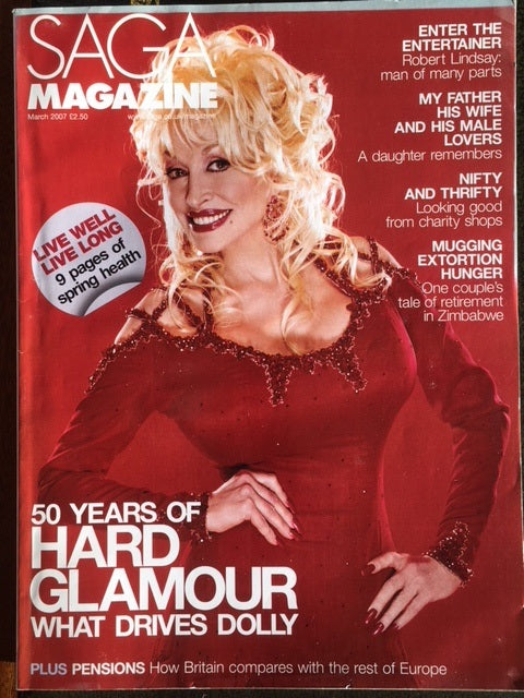 UK Saga Magazine March 2007 Dolly Parton UK Cover Interview