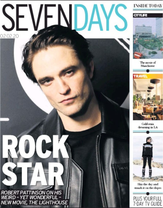 Seven Days Supplement February 2 2020: Robert Pattinson Cover
