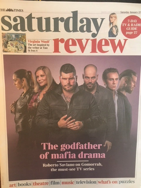UK Times Review 27 Jan 2018 COLIN FIRTH Gomorrah Kaya Scodelario Robert Saviano