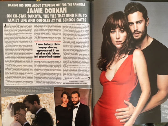 UK Hello! Magazine February 2018 Jamie Dornan Fifty Shades Freed Interview