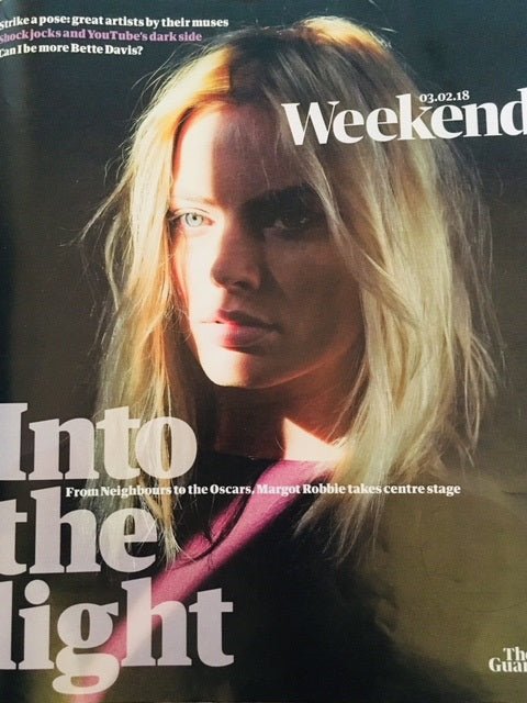 UK GUARDIAN Magazine FEBRUARY 2018: Suicide Squad MARGOT ROBBIE COVER & INTERVIEW
