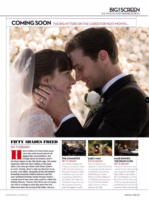 Total Film Magazine Winter 2018 Jamie Dornan Dakota Johnson Fifty Shades Freed