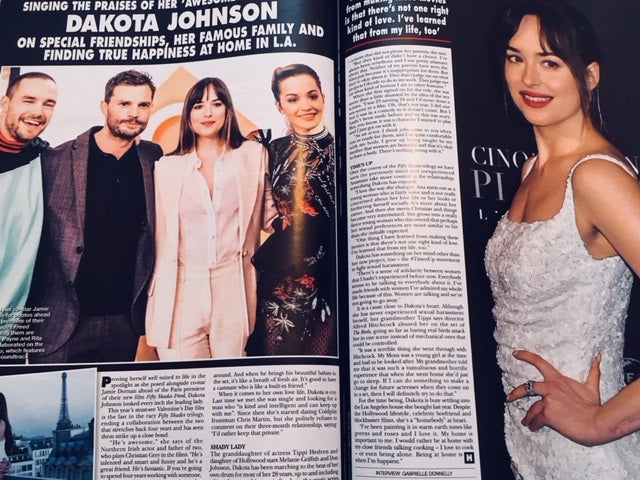HELLO! magazine 19 February 2018 Dakota Johnson Jamie Dornan Fifty Shades Freed