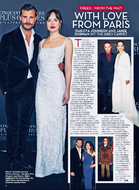 UK OK! Magazine February 2018 Jamie Dornan Dakota Johnson Fifty Shades Premiere