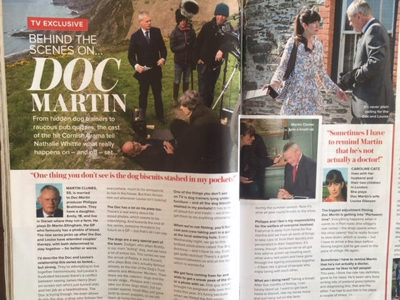 UK Woman & Home Magazine October 2017 Martin Clunes Doc Martin On Set