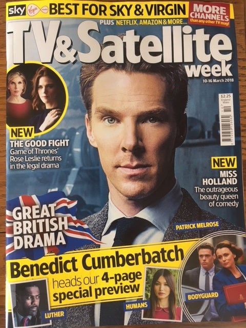 UK TV & Satellite Magazine 10 March 2018 Benedict Cumberbatch is Patrick Melrose