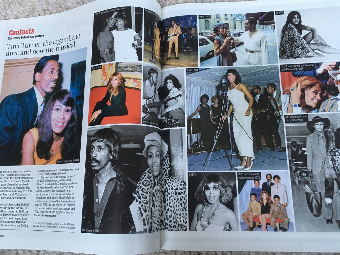 UK Times Magazine MARCH 2018: TINA TURNER The Musical JOHN MALKOVICH