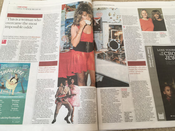 UK Telegraph Review MARCH 2018: TINA TURNER The Musical Interview - Phyllida Llloyd