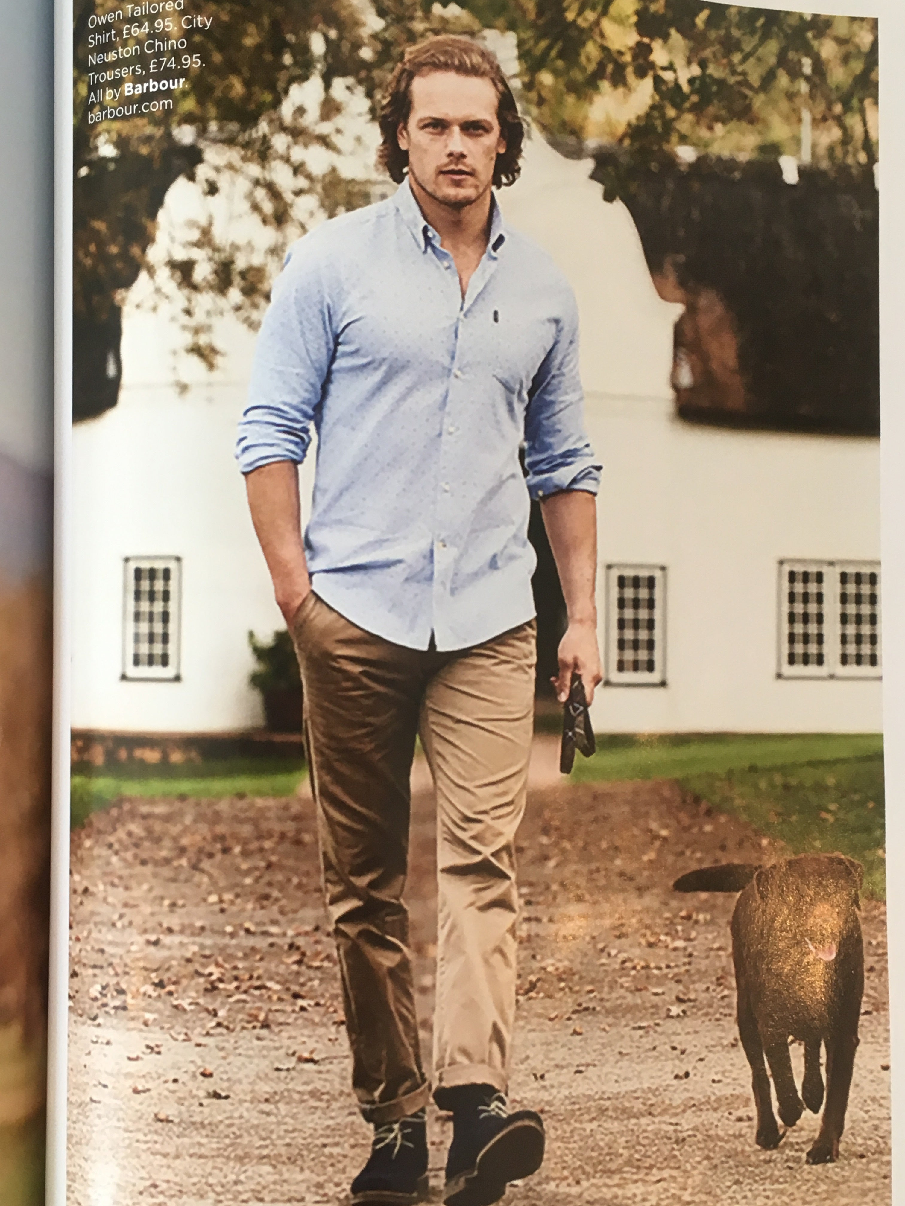 9cba3ff969b UK GQ Magazine 2018 Sam Heughan Outlander NEW Photo Shoot for Barbour