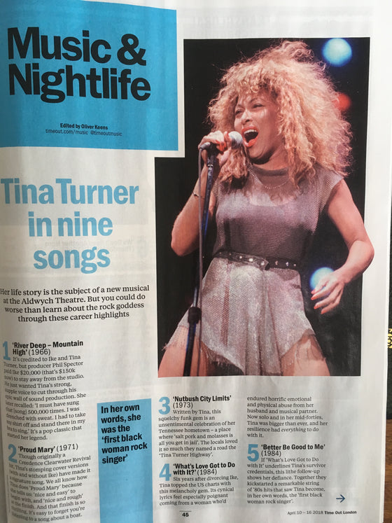 Time Out London April 2018 Tina Turner Toby Stephens