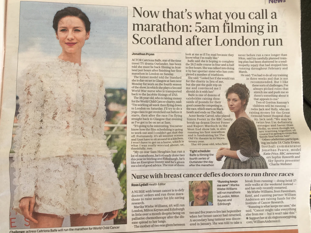 London Evening Standard 18 April 2018 Caitriona Balfe Sam Heughan