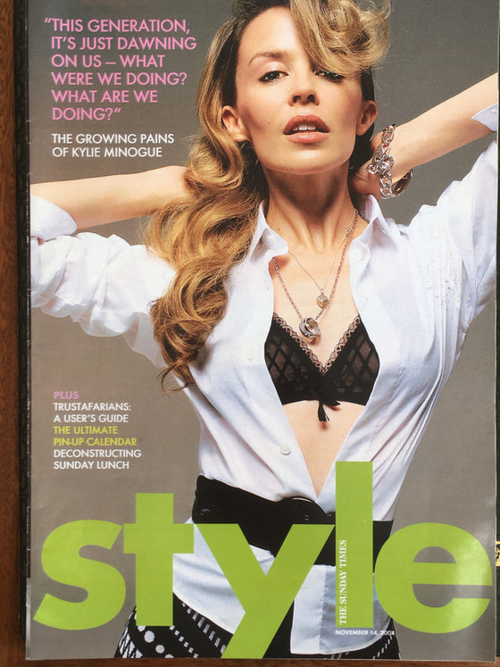 Kylie Minogue Sunday Times Style Magazine November 2004