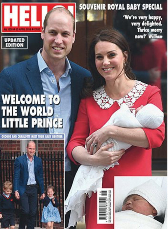 UK Hello Magazine Souvenir Edition - Kate Middleton Royal Baby Birth April 2018