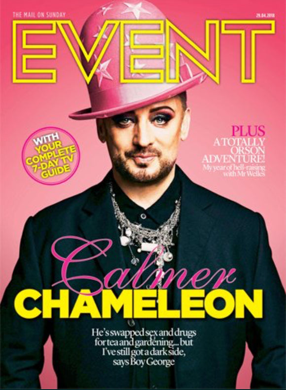 UK Event Magazine 29th April 2018 Boy George Cover And Exclusive Interview