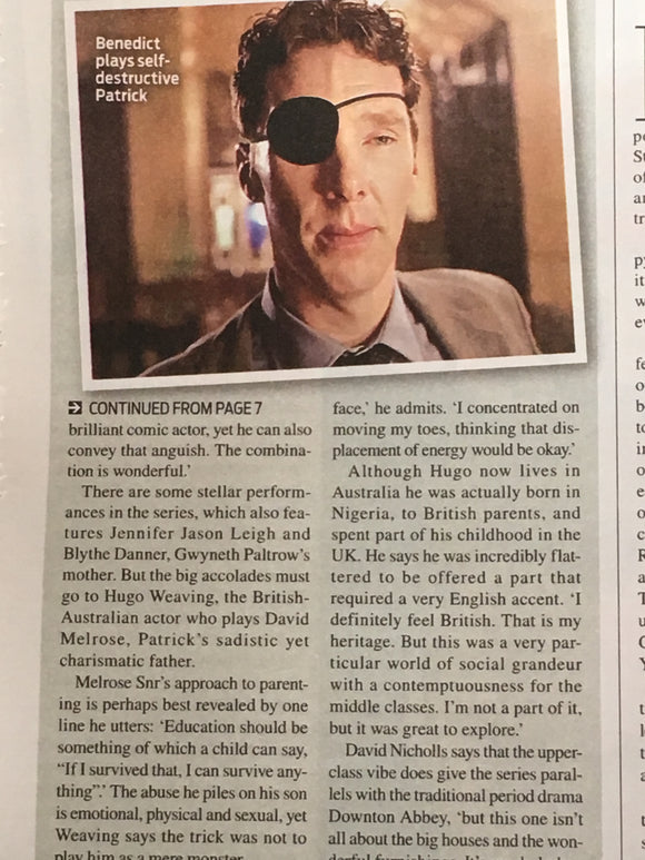 UK Weekend Magazine 28th April 2018 Benedict Cumberbatch 'Biggest Challenge'