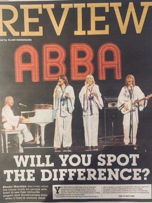 UK Express Review APRIL 2018: ABBA! Benny Anderson Agnetha Faltskog Cover Story