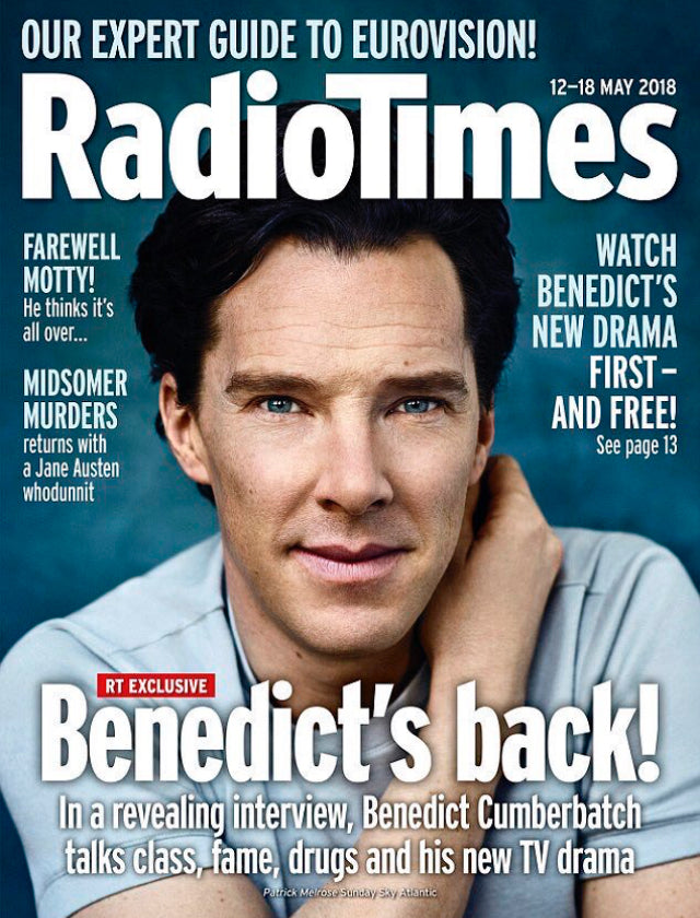UK Radio Times Magazine 8th May 2018 Benedict Cumberbatch is Patrick Melrose