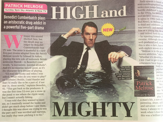 UK Sun TV Magazine May 2018: BENEDICT CUMBERBATCH Interview