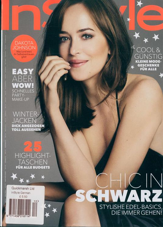 Instyle German Magazine November 2018: Dakota Johnson Cover