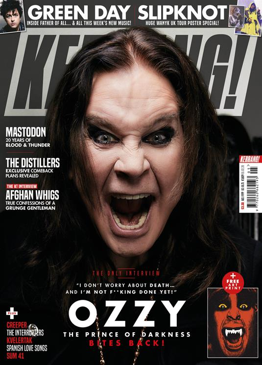 KERRANG! magazine Feb 2020: Ozzy Osbourne Cover + Exclusive Art Print - Slipknot