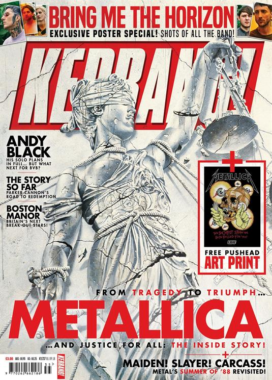 Kerrang! Magazine September 1st 2018: Metallica Bring Me The Horizon Andy Black